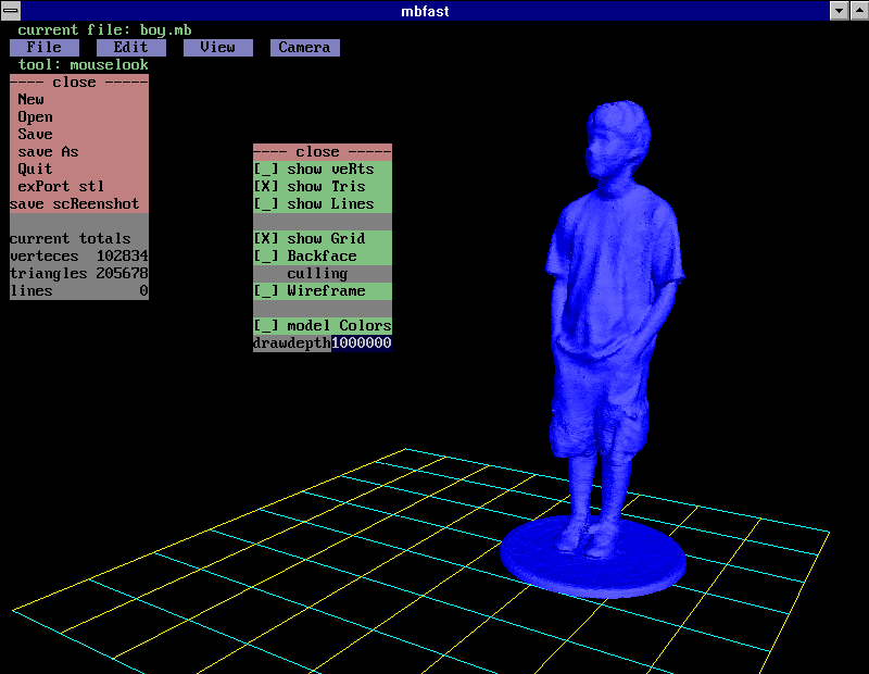 3d model editor (and other stuff) - freebasic net